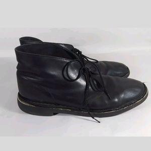 Clarks chukka 9.5 desert boots black leather